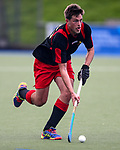 Marcus Child. Action during the Auckland Intercity Men's bottom four Hockey match between University and Southern, Lloyd Elsmore Park, Auckland, New Zealand. Saturday 5 August 2017. Photo:Simon Watts / www.bwmedia.co.nz