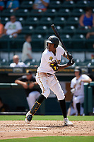 Bradenton Marauders Oneil Cruz (13) at bat during a Florida State League game against the Charlotte Stone Crabs on April 10, 2019 at LECOM Park in Bradenton, Florida.  Bradenton defeated Charlotte 2-1.  (Mike Janes/Four Seam Images)