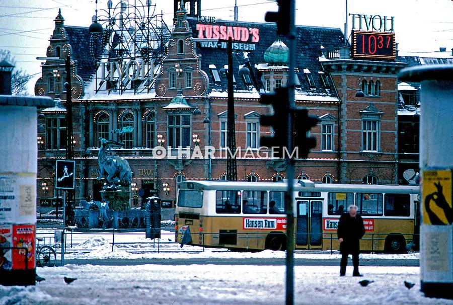 Parque Tivoli no inverno, Copenhague. Dinamarca. 1985. Foto de Juca Martins.