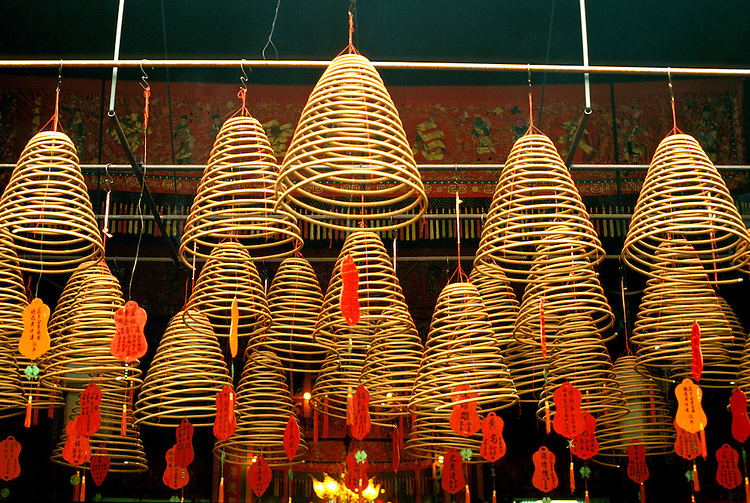 Hong Kong: Kowloon, Tin Hau Temple, Joss sticks. Photo: hongko103 .Photo copyright Lee Foster, www.fostertravel.com, 510/549-2202, lee@fostertravel.com, www.fostertravel.com