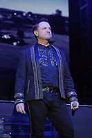 LONDON, ENGLAND - FEBRUARY 7: Mikey Graham of 'Boyzone' performing at the O2 Arena on February 7, 2019 as part of their 'Thank You &amp; Goodnight' Farewell Tour in London, England.<br /> CAP/MAR<br /> &copy;MAR/Capital Pictures