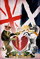 Scottish independence collage with Scotland breaking links with the United Kingdom