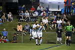 CARY, NC - OCTOBER 06: Wake Forest's Omir Fernandez (16) celebrates his goal with Bruno Lapa (BRA). The University of North Carolina Tar Heels hosted the Wake Forest University Demon Deacons on October 6, 2017 at Koka Booth Field at WakeMed Soccer Park in Cary, NC in a Division I college soccer game.