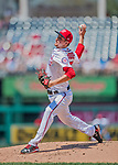 30 July 2017: Washington Nationals pitcher Erick Fedde on the mound delivering a perfect second inning in his major league debut against the Colorado Rockies at Nationals Park in Washington, DC. The Rockies defeated the Nationals 10-6 in the second game of their 3-game weekend series. Mandatory Credit: Ed Wolfstein Photo *** RAW (NEF) Image File Available ***