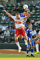 Davy Arnaud, Joel Lindpere #20...Kansas City were defeated 3-0 by New York Red Bulls at Community America Ballpark, Kansas City, Kansas.