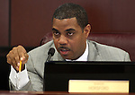 Nevada Senate Majority Leader Steven Horsford, D-North Las Vegas, works in committee Monday morning, May 9, 2011, at the Legislature in Carson City, Nev..Photo by Cathleen Allison