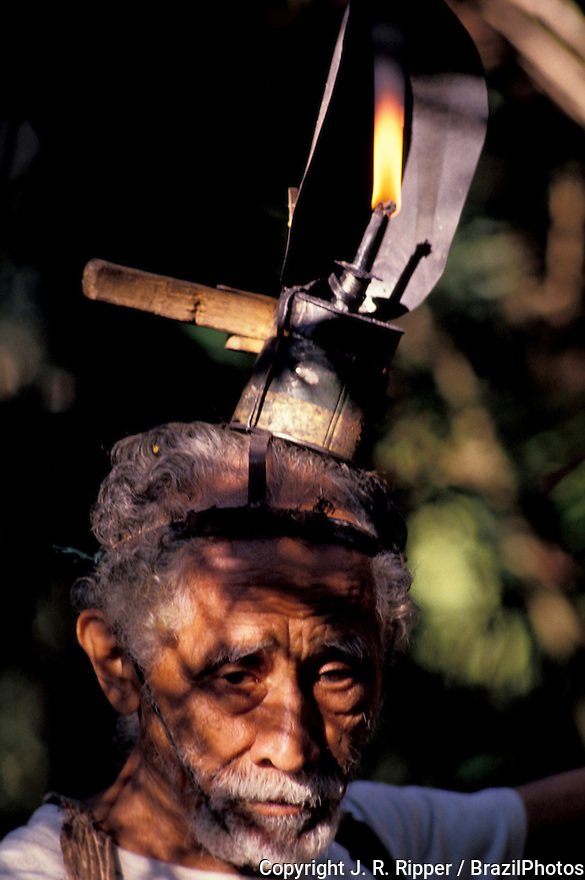 Amazon rainforest, Brazil.Rubber gatherer.