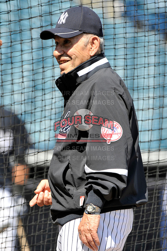 Feb 23, 2010; Tampa, FL, USA; New York Yankees  Hall of Famer Yogi Berra during  team workout at George M. Steinbrenner Field. Mandatory Credit: Tomasso De Rosa