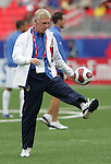 14 July 2007: United States head coach Thomas Rongen. Austria's Under-20 Men's National Team defeated the Under-20 Men's National Team of the United States 2-1 after extra time in a  quarterfinal match at the National Soccer Stadium (also known as BMO Field) in Toronto, Ontario, Canada during the FIFA U-20 World Cup Canada 2007 tournament..