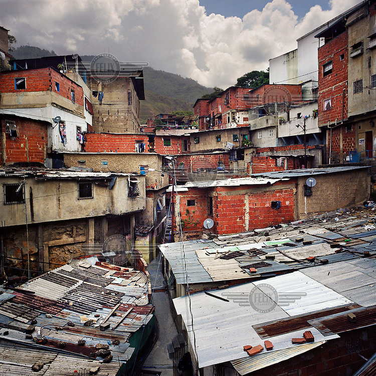 Sarria, an impoverished neighbourhood of Caracas.