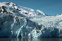 Portage Glacier, scenic view of tidewater glacier, Anchorage, Alaska