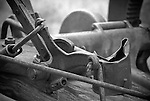 Detail of an old sickle mower, Fort Rock, Oregon