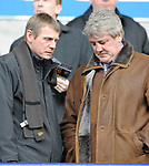 England U21 manager Stuart Pearce and  Wigan manager Steve Bruce during the Premier League match at the Reebok Stadium, Bolton. Picture date 12th April 2008. Picture credit should read: Simon Bellis/Sportimage