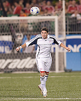 Jay Heaps (6) in action at BMO Field against Toronto FC. .The game ended in a 1-1 draw.