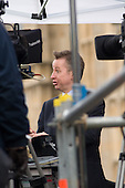 Conservative MP Michael Gove is interviewed by Sky News on College Green, Westminster, as politicians from the three main parties negotiate following an indecisive result in the 2010 General Election.