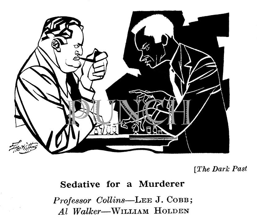 The Dark Past ; Lee J Cobb and William Holden..