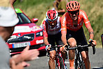 The breakaway group down to 2 men Alessandro De Marchi (ITA) CCC Team and Thomas De Gendt (BEL) Lotto-Soudal  during Stage 8 of the 2019 Tour de France running 200km from Macon to Saint-Etienne, France. 13th July 2019.<br /> Picture: ASO/Alex Broadway | Cyclefile<br /> All photos usage must carry mandatory copyright credit (© Cyclefile | ASO/Alex Broadway)