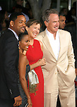 "WESTWOOD, CA. - September 04: Actors WIll Smith, Jada Pinkett Smith, Annette Bening and Warren Beatty arrive at the Los Angeles Premiere of ""The Women"" at the Mann Village Theater on September 4, 2008 in Westwood, California."