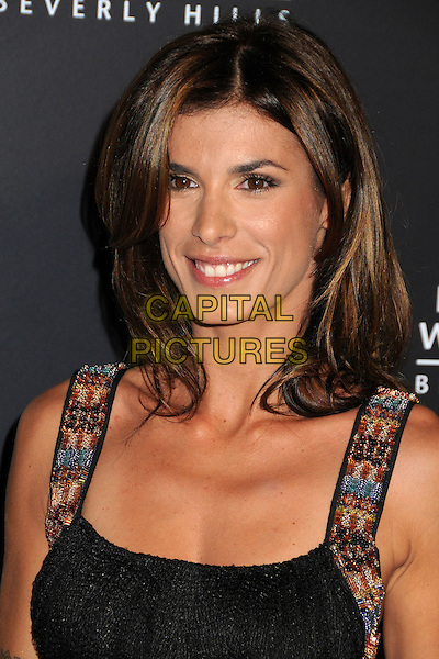 Elisabetta Canalis.Rodeo Drive Walk Of Style Honoring Iman And Missoni Held On Rodeo Drive, Beverly Hills, California, USA..October 23rd, 2011.headshot portrait black embroidered straps  .CAP/ADM/BP.©Byron Purvis/AdMedia/Capital Pictures.