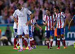 9   Real Madrid's French forward Karim Benzema<br />  during the Spanish Super Cup first leg football match Club Atletico de Madrid vs Real Madrid CF at the Manzanares stadium in Madrid on August 22, 2014. PHOTOCALL3000/ DP