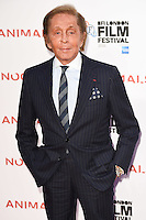 "Valentino<br /> at the London Film Festival 2016 premiere of ""Nocturnal Animals"" at the Odeon Leicester Square, London.<br /> <br /> <br /> ©Ash Knotek  D3179  14/10/2016"
