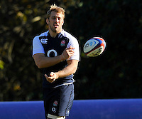 Bagshot, England.Chris Robshaw of England during the England training session held at Pennyhill Park on November 8, 2012 in Bagshot, England.