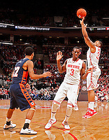 Ohio State Buckeyes guard Lenzelle Smith Jr. (32) hits a three pointer against Morgan State Bears during the 1st half of their game at The Value City Arena at the Jerome Schottenstein Center on November 9, 2013.  (Dispatch photo by Kyle Robertson)