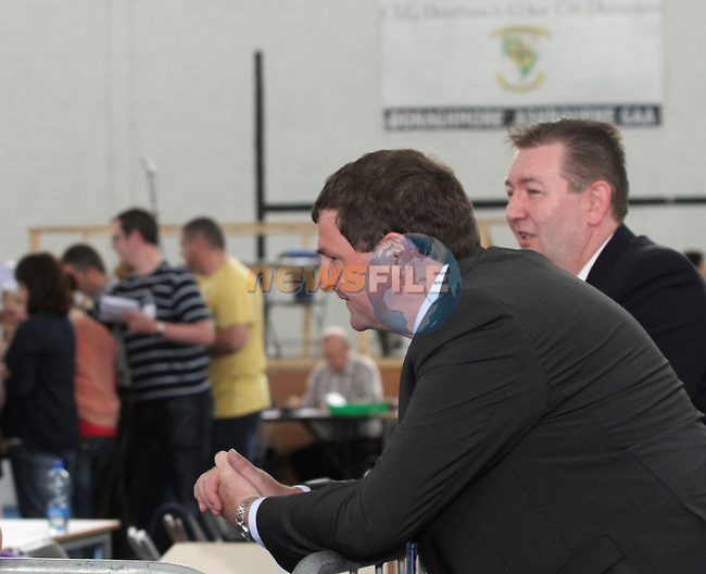 Minister of State Mr. Shane McEntee, T.D as Fiscal Treaty referendum votes are counted and sorted at the Meath East Count Centre in Ashbourne...(Photo Jenny Matthews/www.newsfile.ie)