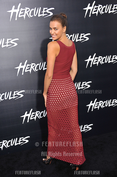 Irina Shayk at the premiere of her movie  &quot;Hercules&quot; at the TCL Chinese Theatre, Hollywood.<br /> July 23, 2014  Los Angeles, CA<br /> Picture: Paul Smith / Featureflash