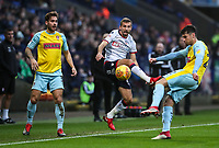 Bolton Wanderers' Gary O'Neil competing with Rotherham United's Joe Mattock and Joe Newell<br /> <br /> Photographer Andrew Kearns/CameraSport<br /> <br /> The EFL Sky Bet Championship - Bolton Wanderers v Rotherham United - Wednesday 26th December 2018 - University of Bolton Stadium - Bolton<br /> <br /> World Copyright &copy; 2018 CameraSport. All rights reserved. 43 Linden Ave. Countesthorpe. Leicester. England. LE8 5PG - Tel: +44 (0) 116 277 4147 - admin@camerasport.com - www.camerasport.com