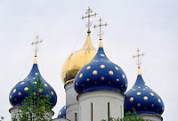 Cathedral of the Assumption in the Trinity Sergius Monastery at Zagorsk, near Moscow, Russia