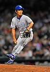 12 September 2008: Kansas City Royals' pitcher Yasuhiko Yabuta on the mound in relief against the Cleveland Indians at Progressive Field in Cleveland, Ohio. The Indians defeated the Royals 12-5 in the first game of their 4-game series...Mandatory Photo Credit: Ed Wolfstein Photo