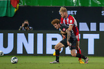 Joshua Sargent (SV Werder Bremen #19), Sebastian Griesbeck (FC Heidenheim, #18),<br /> <br /> GER, FC Heidenheim vs. Werder Bremen, Fussball, Bundesliga Religation, 2019/2020, 06.07.2020,<br /> <br /> DFB/DFL regulations prohibit any use of photographs as image sequences and/or quasi-video., <br /> <br /> <br /> Foto: EIBNER/Sascha Walther/Pool/gumzmedia/nordphoto