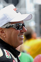 May 11, 2013; Commerce, GA, USA: NHRA funny car driver John Force during the Southern Nationals at Atlanta Dragway. Mandatory Credit: Mark J. Rebilas-