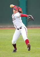 STANFORD, CA - April 2, 2011: Corey Hanewich of Stanford softball during Stanford's game against Arizona at Smith Family Stadium. Stanford lost 6-1.