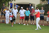 Matt Wallace (ENG) on the 15th fairway during the 3rd round of the DP World Tour Championship, Jumeirah Golf Estates, Dubai, United Arab Emirates. 17/11/2018<br /> Picture: Golffile | Fran Caffrey<br /> <br /> <br /> All photo usage must carry mandatory copyright credit (&copy; Golffile | Fran Caffrey)