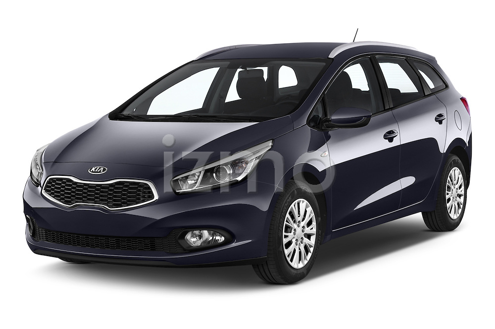 2014 KIA cee'd Access 5 Door Wagon 2WD Angular Front stock photos of front three quarter view