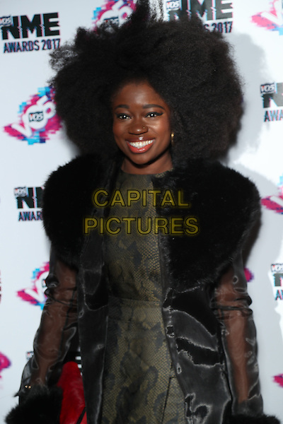 Clara Amfo<br /> The VO5 NME Awards 2017 at the O2 Academy, Brixton, London on February 15th 2017<br /> CAP/GOL<br /> &copy;GOL/Capital Pictures