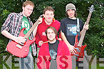 ROCK OUT: Member's of the band We Sound Unsure competing in the Maine Event organised by That Guy Productions held at the Community Centre in Castlemaine on Sunday l-r: Conor Hooper, Martin Murphy, Paddy O'Connor and Timmy Keane..   Copyright Kerry's Eye 2008