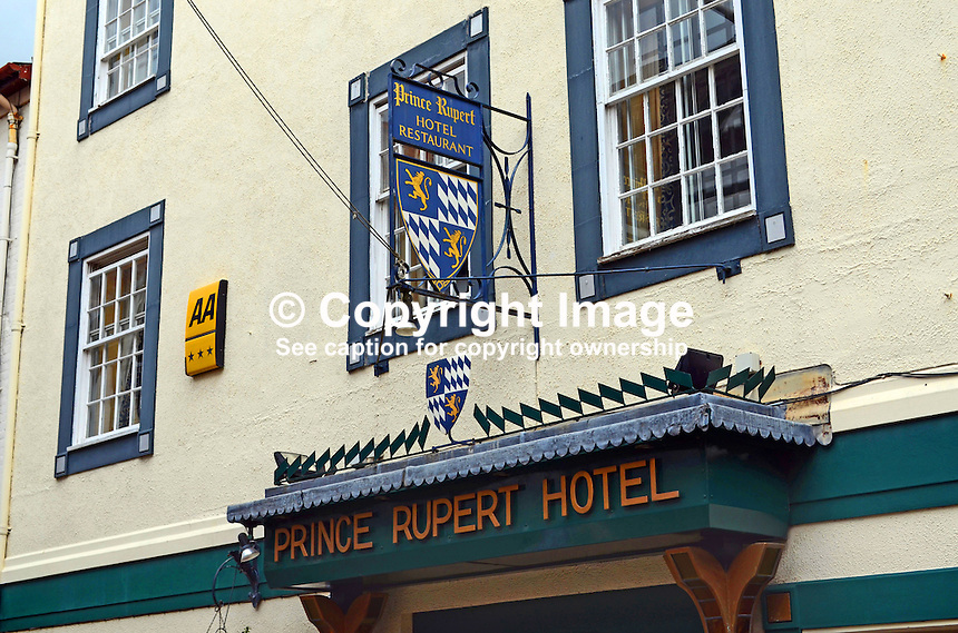 Signage, Prince Rupert Hotel, Butcher Row, Shrewsbury, Shropshire, UK, July, 2014, 201407043205<br />
