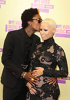 LOS ANGELES, CA - SEPTEMBER 06: Wiz Khalifa and Amber Rose at the 2012 MTV Video Music Awards at The Staples Center on September 6, 2012 in Los Angeles, California. &copy;&nbsp;mpi28/MediaPunch inc. /NortePhoto.com<br />