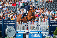 AUS-Billy Raymont rides Oaks Redwood during Round A of the FEI World Individual Jumping Championship. 2018 FEI World Equestrian Games Tryon. Sunday 23 September. Copyright Photo: Libby Law Photography