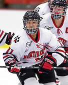 Rachel Llanes (NU - 11) - The Northeastern University Huskies defeated the Boston University Terriers in a shootout after being tied at 4 following overtime in their Beanpot semi-final game on Tuesday, February 2, 2010 at the Bright Hockey Center in Cambridge, Massachusetts.