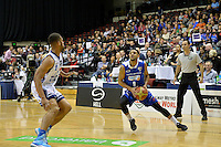 Corey Webster in action during the NBL Final Four - Saints v Giants at TSB Bank Arena, Wellington, New Zealand on Friday 4 July 2014. <br /> Photo by Masanori Udagawa. <br /> www.photowellington.photoshelter.com.