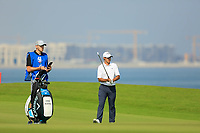 Chase Koepka (USA) during the first round of the NBO Open played at Al Mouj Golf, Muscat, Sultanate of Oman. <br /> 15/02/2018.<br /> Picture: Golffile | Phil Inglis<br /> <br /> <br /> All photo usage must carry mandatory copyright credit (&copy; Golffile | Phil Inglis)
