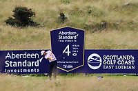 Lucas Bjerregaard (DEN) on the 4th tee during Round 1 of the Aberdeen Standard Investments Scottish Open 2019 at The Renaissance Club, North Berwick, Scotland on Thursday 11th July 2019.<br /> Picture:  Thos Caffrey / Golffile<br /> <br /> All photos usage must carry mandatory copyright credit (© Golffile | Thos Caffrey)