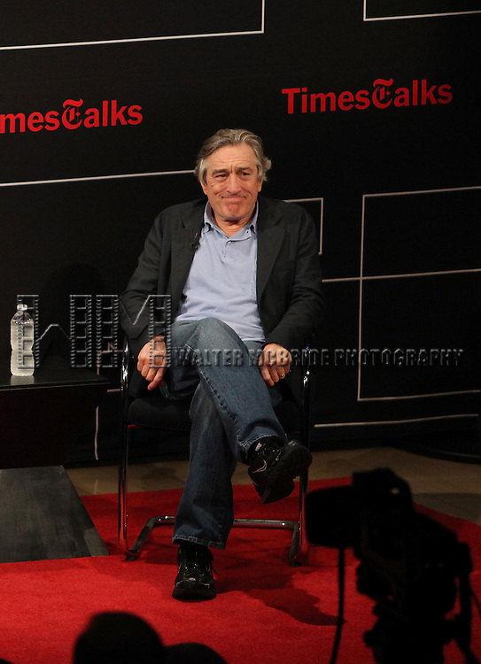 Times Talks with Robert De Niro at The Times Center on 3/13/2012 in New York City.