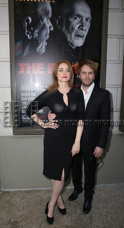 Marine Delterme and Florian Zeller attends the Broadway Opening Night performance of 'The Father'  at The Samuel J. Friedman Theatre on April  14, 2016 in New York City.