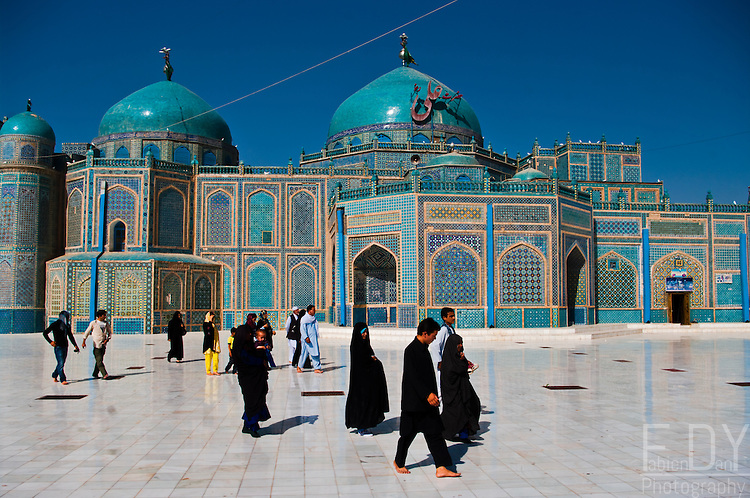The Shrine of Hazrat Ali, also known as the Blue Mosque, is one of the reputed burial places of Ali, cousin and son-in law of prophet Muhammad.