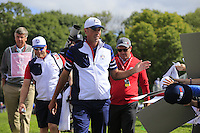 Matt Kuchar US Team walks to the 12th tee during Thursday's Practice Day of the 41st RyderCup held at Hazeltine National Golf Club, Chaska, Minnesota, USA. 29th September 2016.<br /> Picture: Eoin Clarke | Golffile<br /> <br /> <br /> All photos usage must carry mandatory copyright credit (&copy; Golffile | Eoin Clarke)